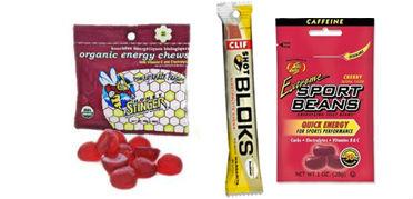 Honey Stinger Chews, Sport Beans, CLIF Shot Bloks